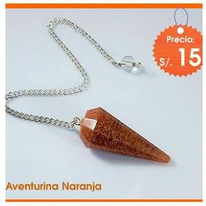 pendulo_facetado_cuarzo_aventurina_naranja