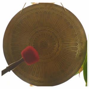 Gong Tibetano Modelo Grabado