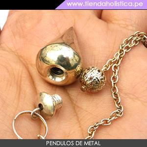 Pendulo Gota de Metal Plateado