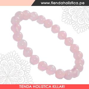 Pulsera de Cuarzo Rosa Piedra Natural en Killari Tienda Holistica