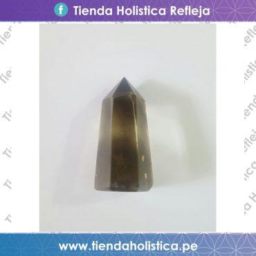 Obelisco de cuarzo ahumado