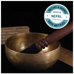 Cuenco Tibetano (18cm) hecho a mano en Nepal
