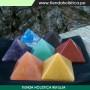 Set de 07 Piramides de Piedras Naturales Colores de los Chakras