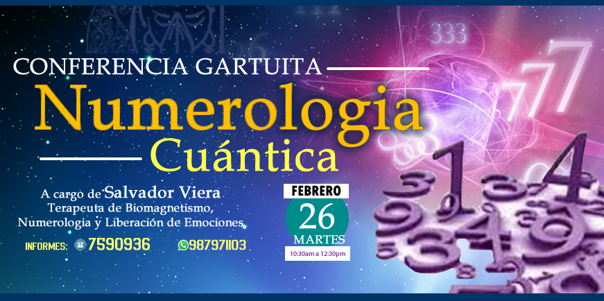 Conferencia de Numerologia Cuántica