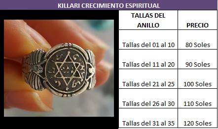 PRECIOS del aANILLO DEL REY SLAOMON