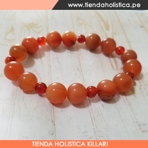 Pulsera Agata Naranja