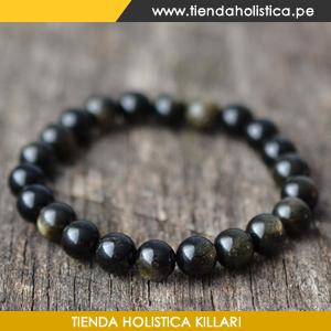 Pulsera Obsidiana Lluvia de Oro