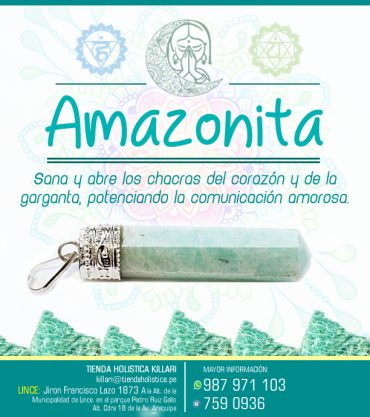 Dije Amazonita Bisuteria
