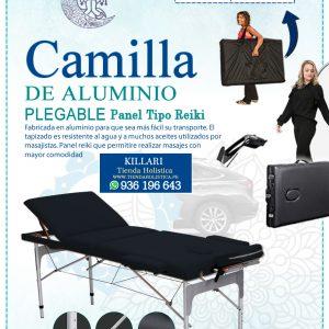 Camilla Plegable de Aluminio de 03 Cuerpos
