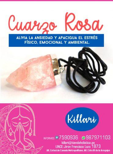 Dije de Cuarzo Rosado Forma...