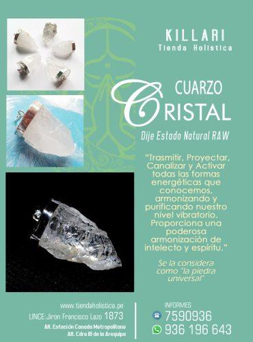 Dije Cuarzo Cristal Forma Natural...
