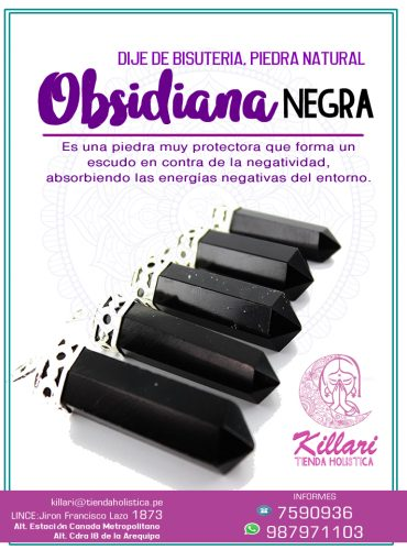 Dije de Obsidiana Negra