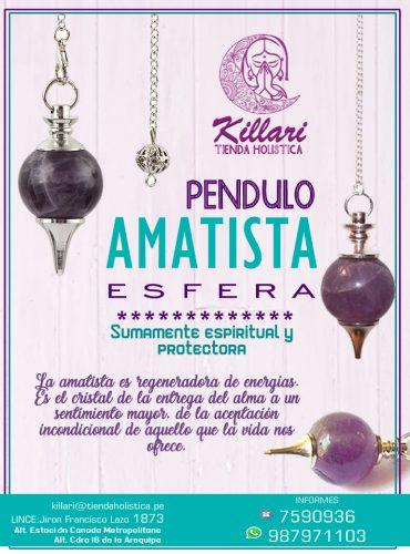 Pendulo Amatista Esfera