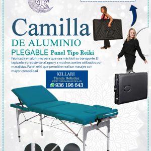 Camilla de Aluminio, 03 Cuerpos color Turqueza