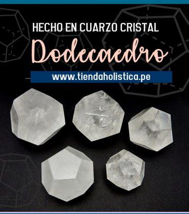 Dodecaedro en Cuarzo Cristal