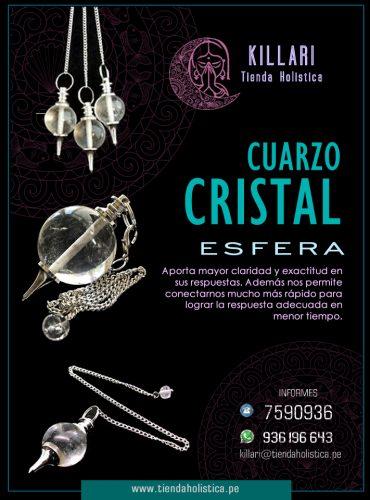 Pendulo Cuarzo Cristal Esfera