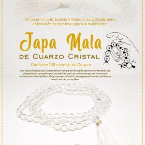 Japa Mala de Cuarzo Cristal
