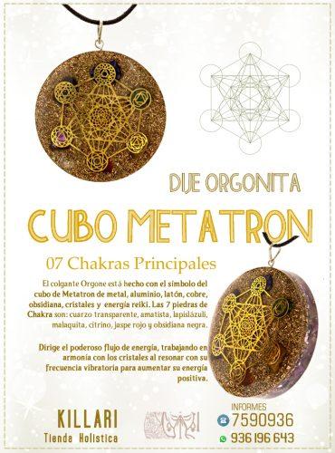 Dije Orgonita Cubo Metatron, 07...
