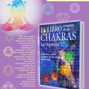 Libro completo de los chakras, de Liz Simpson, Tienda Holistica Killari